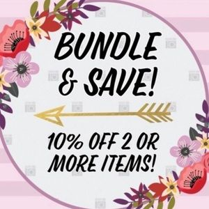 Bundle you're items and save at least 10%